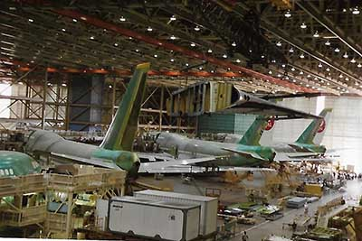Boeing 747 production line at Everett