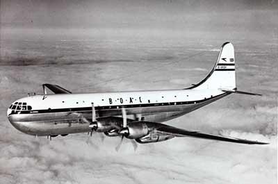 BOAC Boeing Stratocruiser in flight
