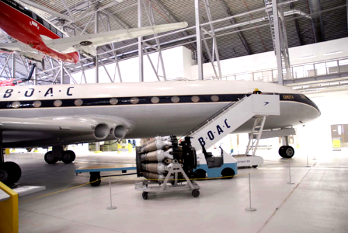 Comet 4 G-APDB  in the AirSpace hangar at Duxford